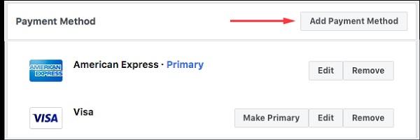 Phương thức thanh toán nợ Facebook Ads