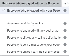 Everyone who enagaged with your Page