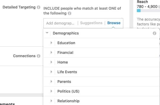 nhân khẩu học - chạy ads instagram