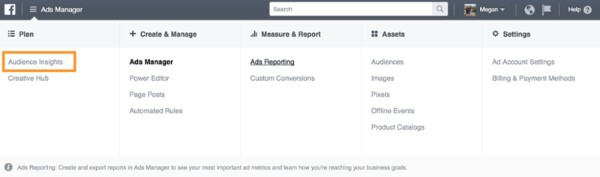 Sử dụng Facebook Audience Insights