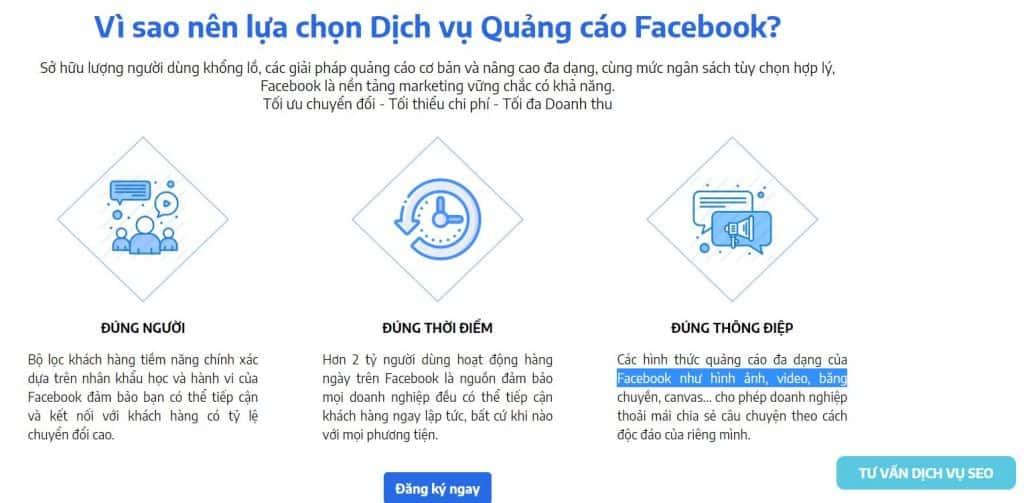 thuê quảng cáo facebook