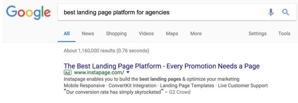 Google Ads tạo thông điệp tìm kiếm phù hợp cho từng đối tượng