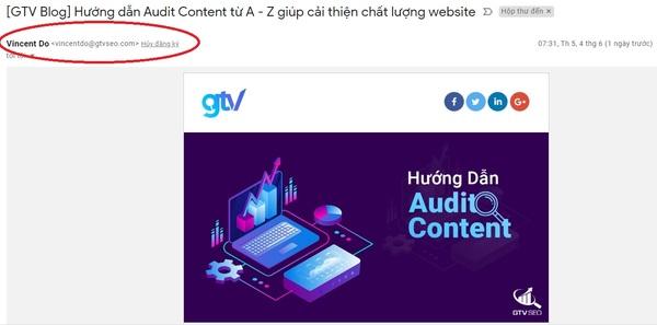 Tên miền lưu ý khi sử dụng Email Marketing