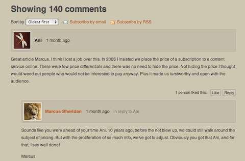 khái niệm blog comment