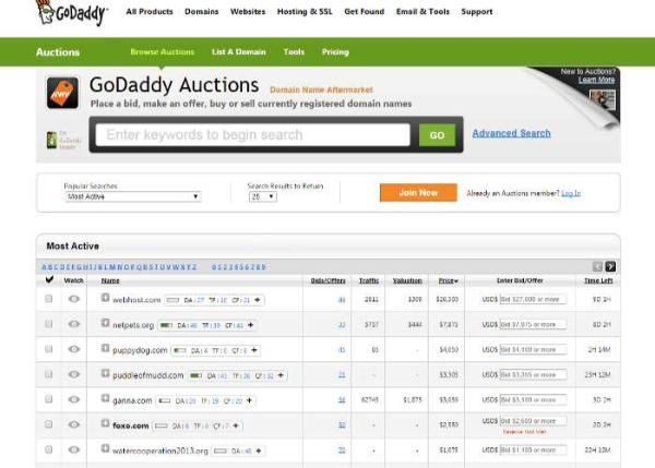 đấu giá pbn godaddy - private blog networks