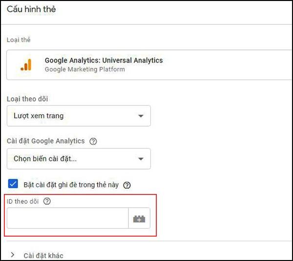 cấu trúc thẻ google tag manager