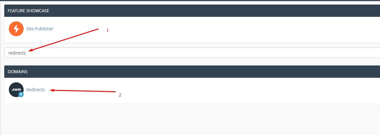 redirects bằng cPanel