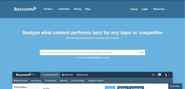 buzzsumo blog comment