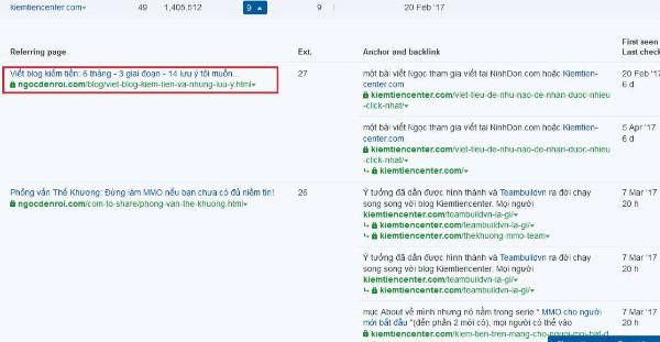 backlink chất lượng của trang web