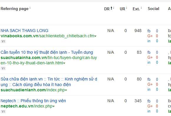 lọc backlink theo dr