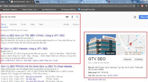 gtv seo hồ chí minh, hướng dẫn seo top 3 google map