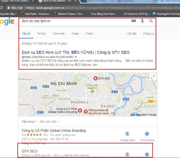 dich vu seo gtv top 3 google map