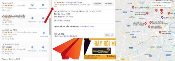 tối ưu danh mục google my business, seo top google map