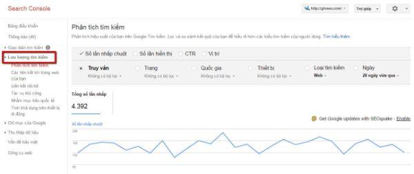 tìm hiểu lưu lượng tìm kiếm trong google webmaster tool - hướng dẫn sử dụng webmaster tool