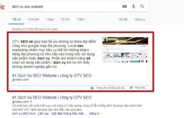 tối ưu featured snippets