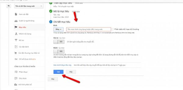 xác định mục tiêu google analytics -hướng dẫn sử dụng google analytics