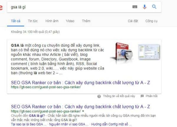 khái niệm featured snippets