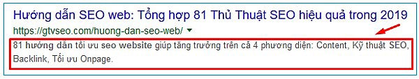 meta description mẫu