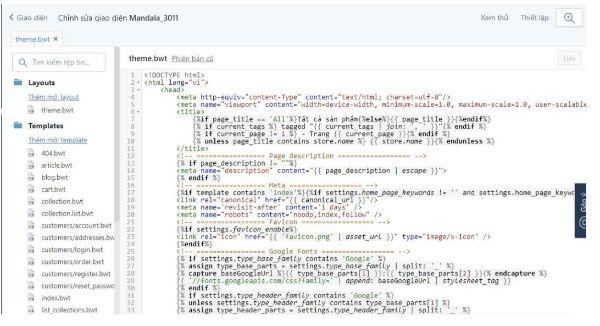 code mở của sapo