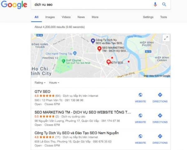 dịch vụ seo gtv