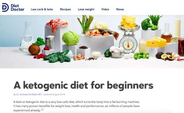 trang web keto diet nổi tiếng