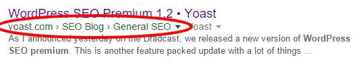 yoast seo plugin breadcrumbs