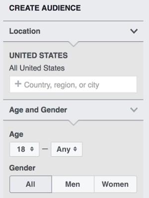 Tùy chỉnh thông tin trên Audience Insights - kế hoạch facebook marketing.