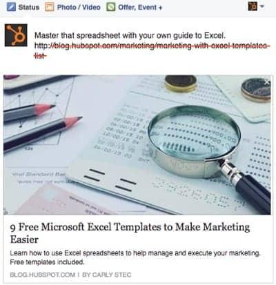 Xoá link trước khi đăng bài - kiến thức facebook marketing.