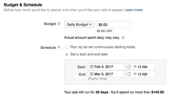 facebook marketing target ad sets