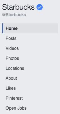 facebook marketing page tabs