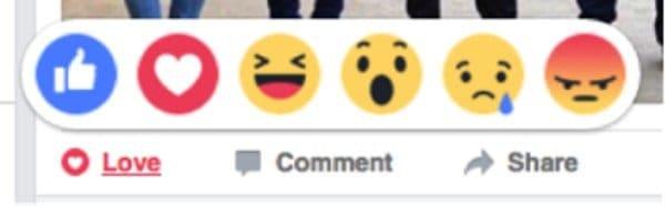 phản ứng trên facebook