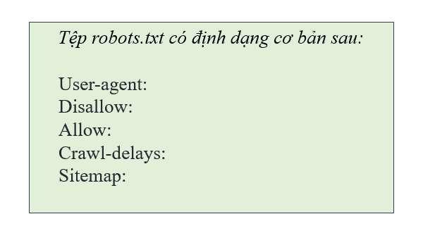 định dạng robots.txt