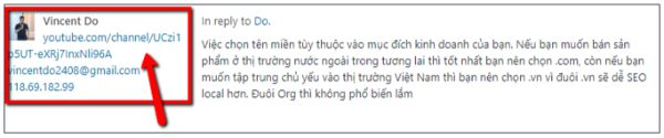 blog comment external link