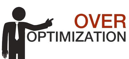 Over Optimization website bạn