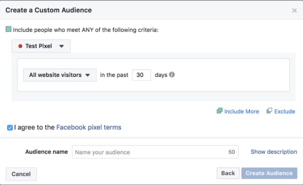 tạo custom audience