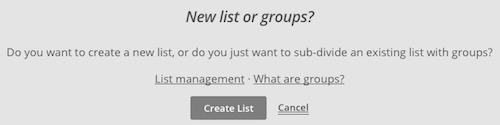 tạp danh sách với phần mềm mailchimp