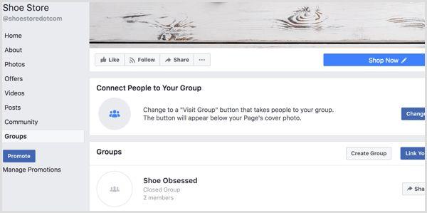 Tạo Tab Nhóm khi liên kết fanpage với nhóm.