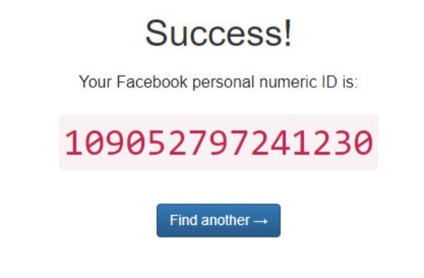 tìm id page facebook