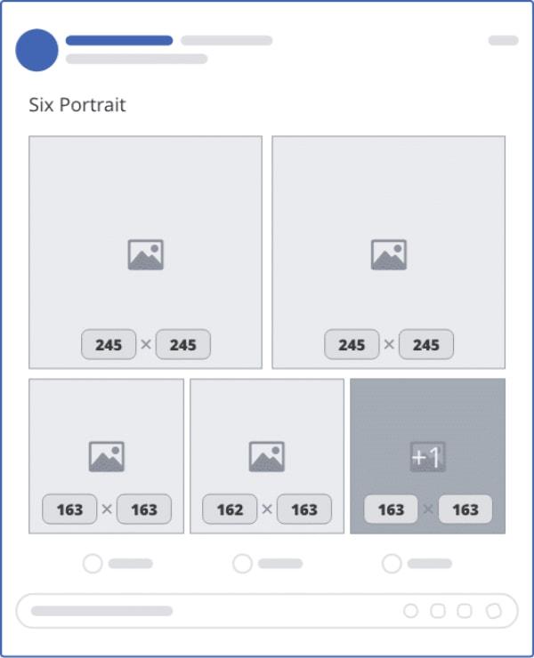 kích thước ảnh bài viết fanpage 6 hình đứng