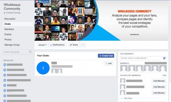 lập nhóm chat trên facebook