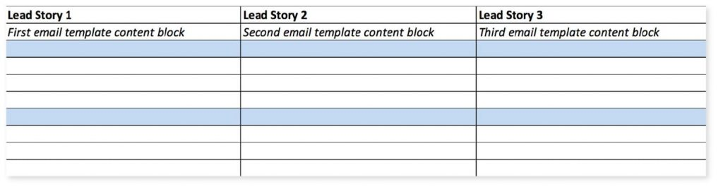 template email marketing