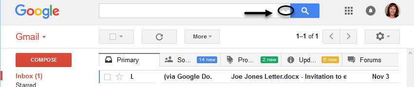 tìm thư spam trong gmail