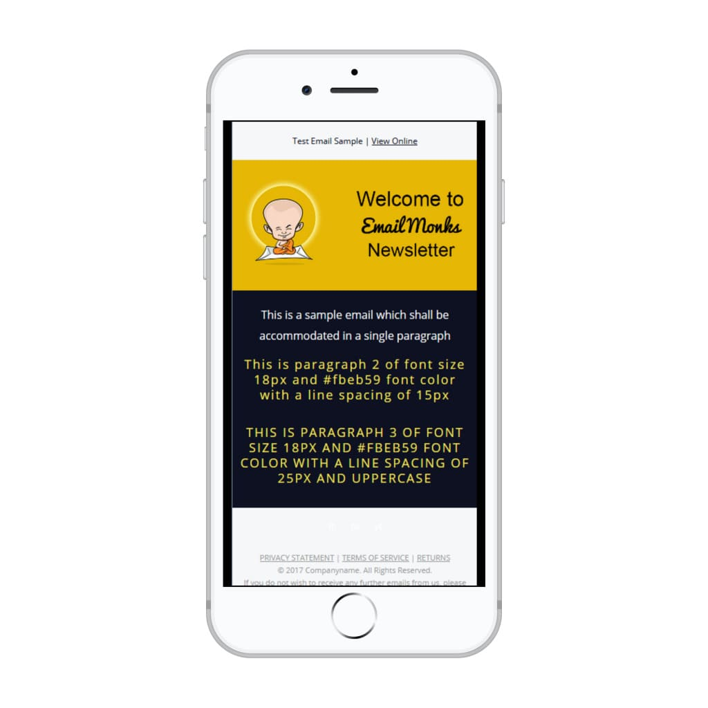 html email mobile