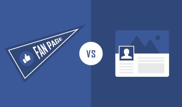 Sự khác nhau giữa tài khoản cá nhân và fanpage là gì