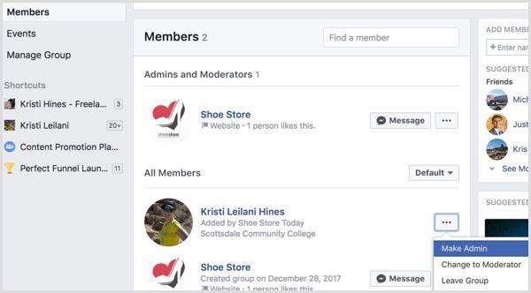 cách thêm admin cho group facebook