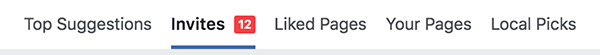 Mời lại bạn bè thích trang trên Facebook.
