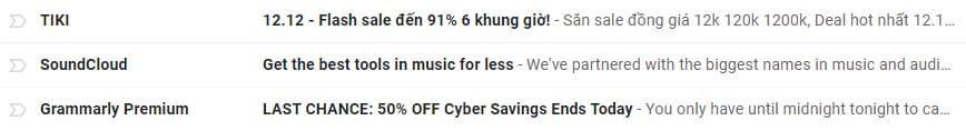 ví dụ tiêu đề email marketing