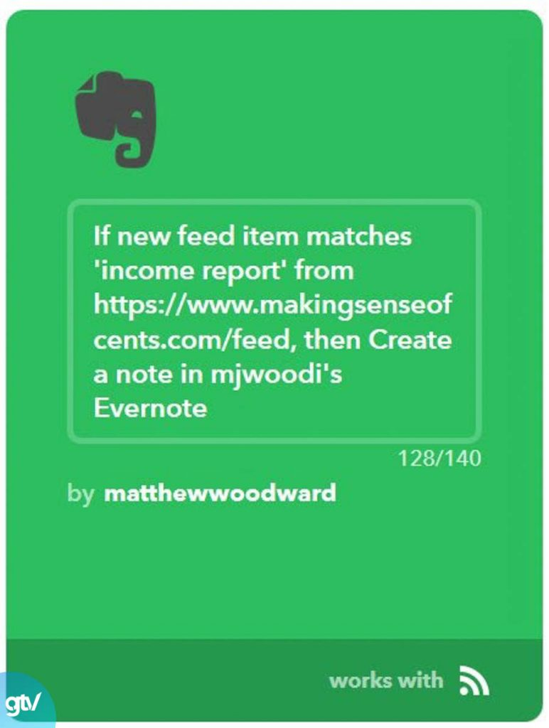 RSS Feed và Evernote