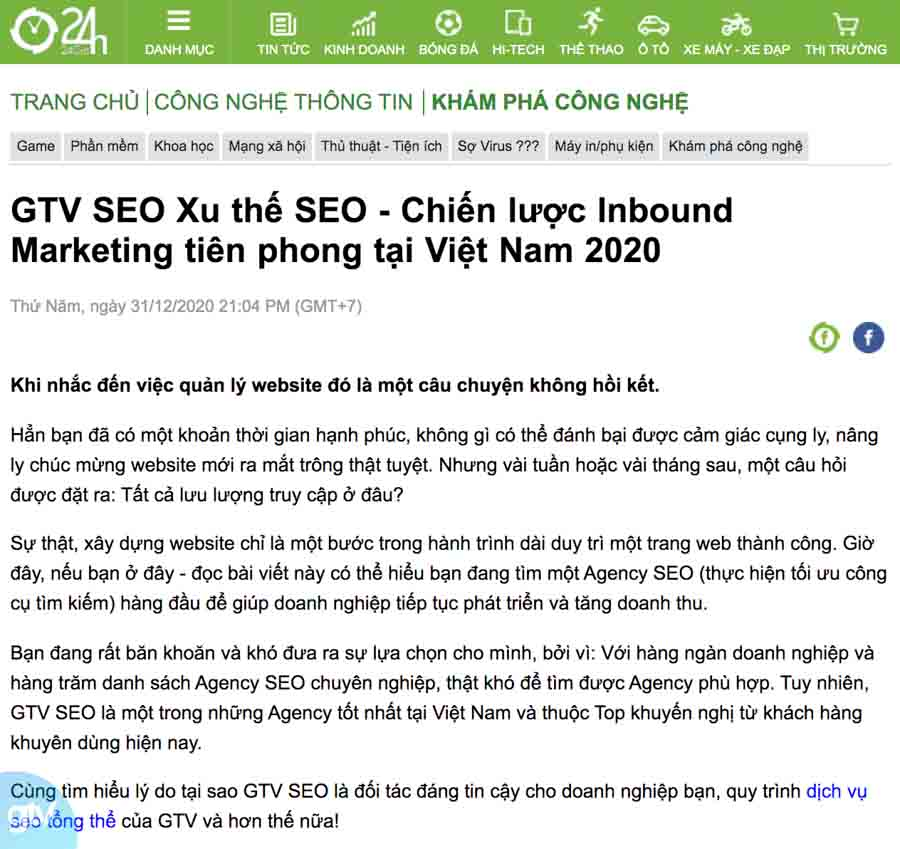 content seo báo article