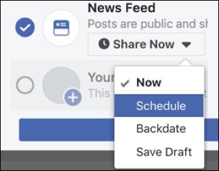 cách lên lịch bài viết facebook trong marketing automation